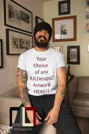 Men's Short Sleeve Basic TeeZ with Your Choice of Artwork Plain white S-3X
