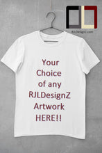 Load image into Gallery viewer, Men's Short Sleeve Basic TeeZ with Your Choice of Artwork Plain white S-3X