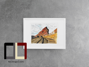 "HAND DRAWN Original Watercolor art ""ROW-69"" featuring Red Rocks Amphitheater!! Available in 9x11, 11x14, 20x30 and 24X36 Prints as well!!"