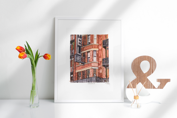 "HAND DRAWN Original Watercolor art ""Chelsea Hotel NYC""! Available in 9x11, 11x14, 20x30 and 24X36 Prints as well!!"
