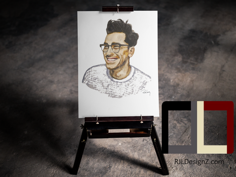 "HAND DRAWN 18"" X 24"" Original Watercolor ""Dan Levy"" of Schitt's Creek! Available in 9x11, 11x14, 20x30 and 24X36 Prints as well!!"
