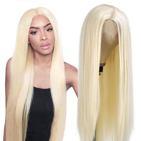 lace front blonde 613 wig for black women