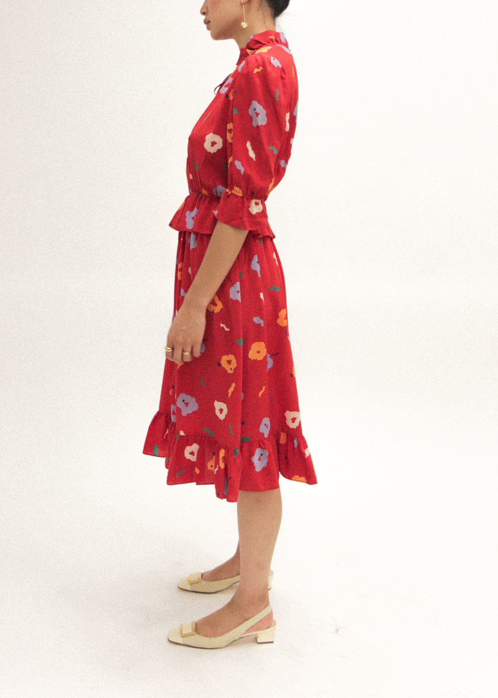 Pre by New Classics Vintage Floral Ruffle Dress — Shop sustainable fashion and slow fashion at New Classics Studios