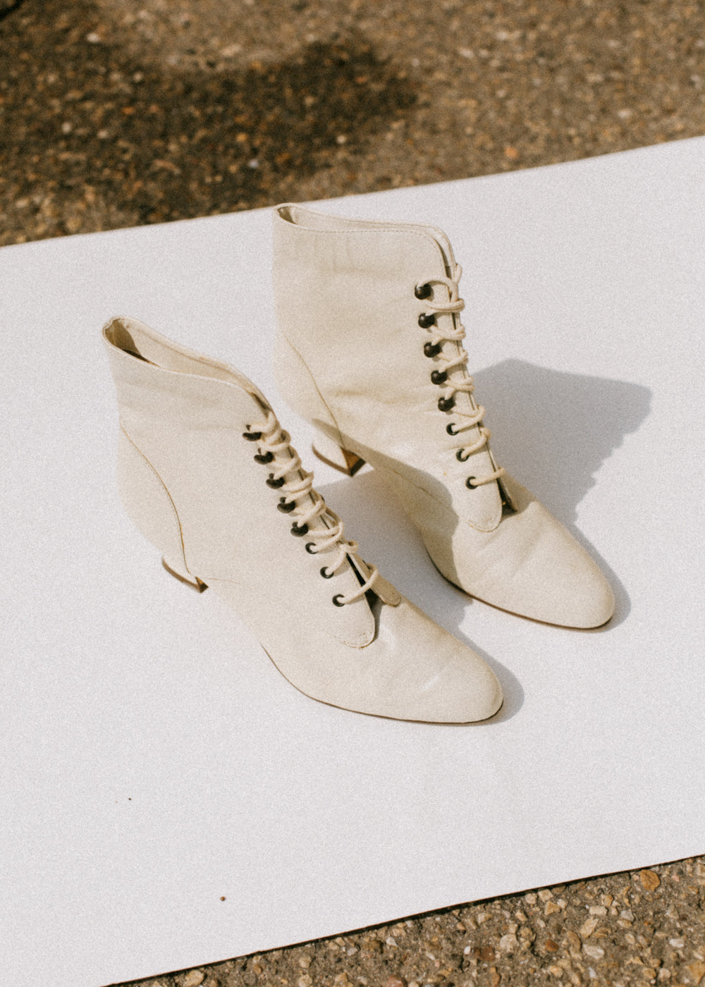 Vintage Lace-Up Booties