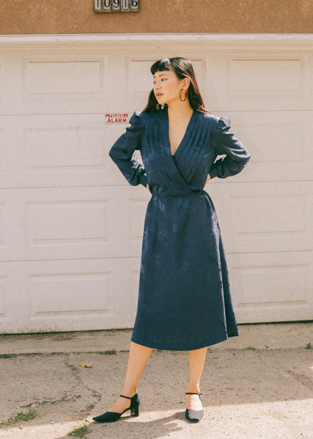 Pre by New Classics Vintage Navy Long Sleeve Dress — New Classics Studios