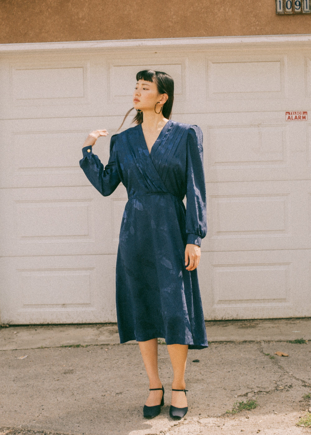 Pre by New Classics Vintage Navy Long Sleeve Dress — Shop sustainable fashion and slow fashion at New Classics Studios