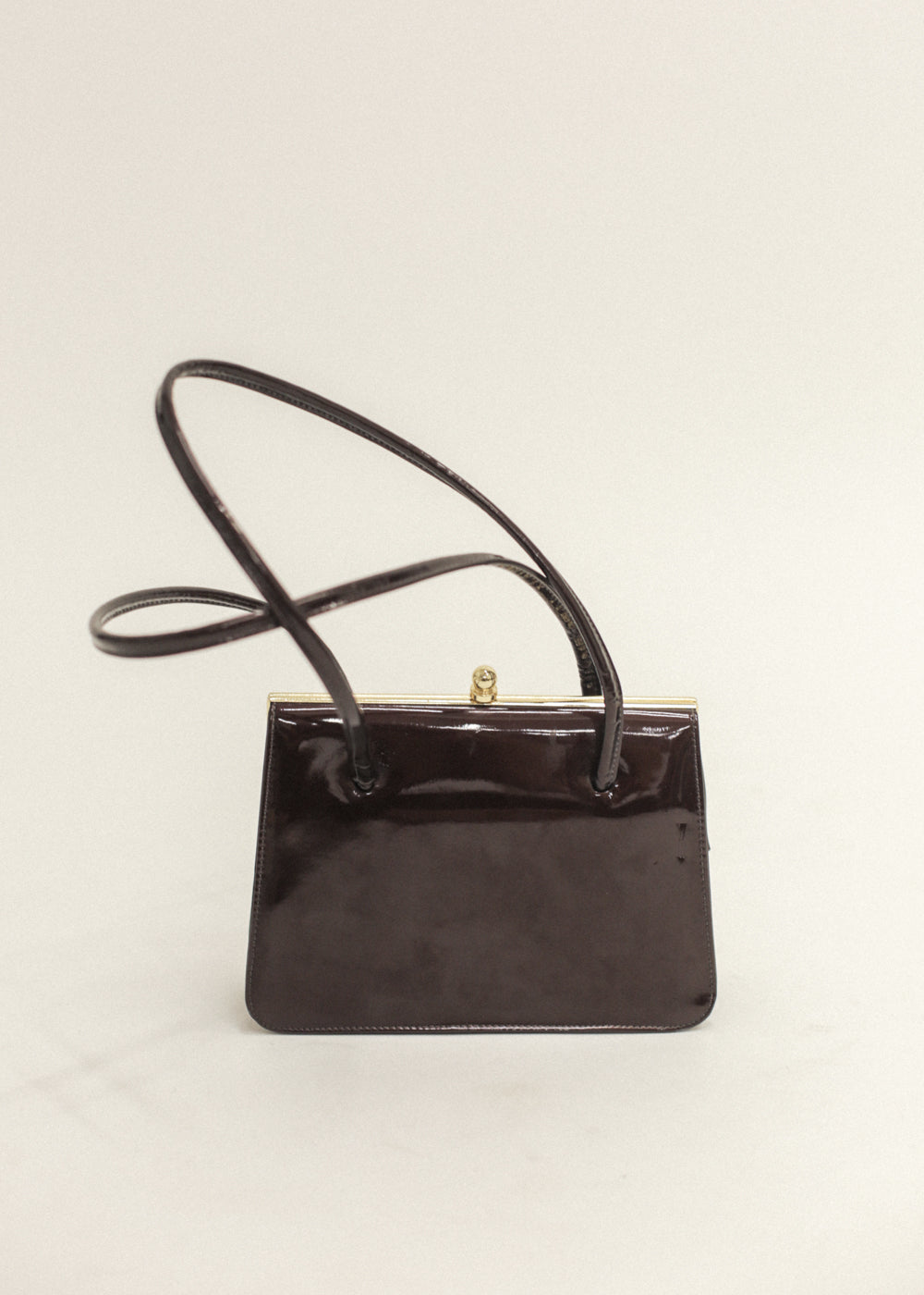 Vintage Brown Glossy Purse