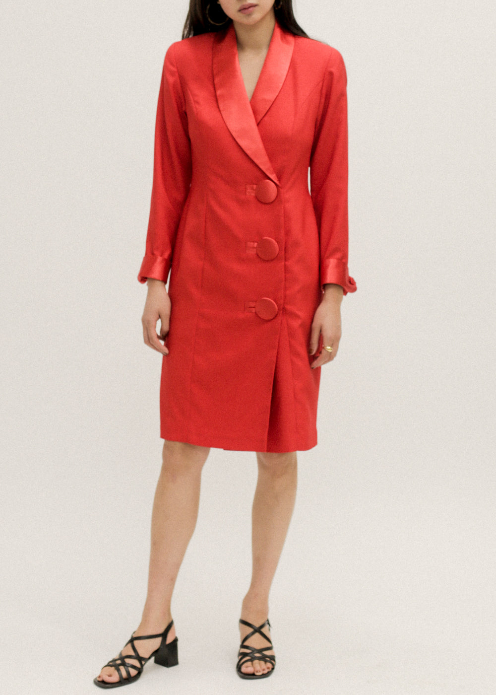 Vintage Red Blazer Dress