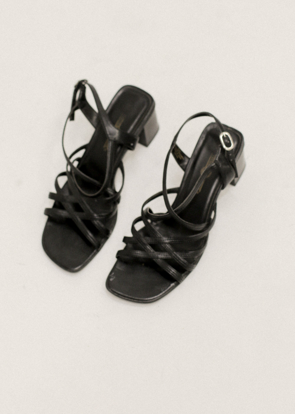 Pre by New Classics Vintage Black Strappy Heeled Sandals — New Classics Studios