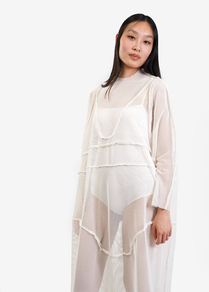 323 Ivory Net Underwear Dress — Shop sustainable fashion and slow fashion at New Classics Studios