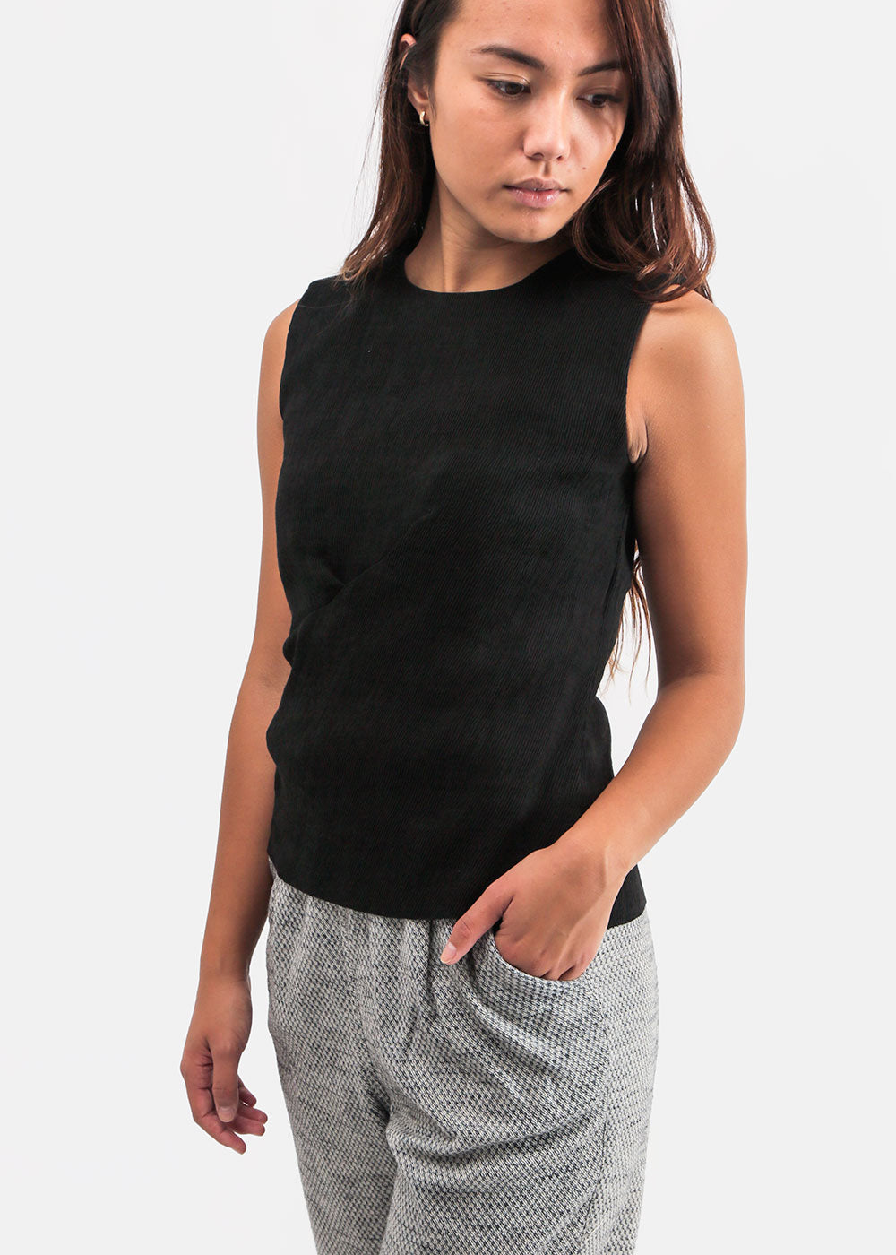 Ajaie Alaie Ink Siempre Lunes Top — Shop sustainable fashion and slow fashion at New Classics Studios