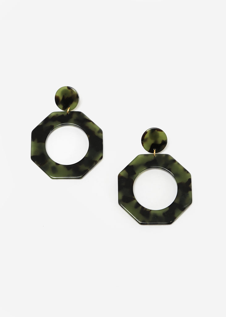 Après Ski Clef Green Carey Earrings — New Classics Studios