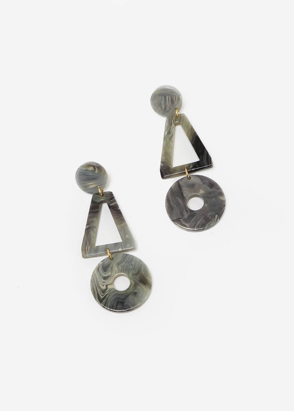 Après Ski Lis Marble Grey Earrings — New Classics Studios