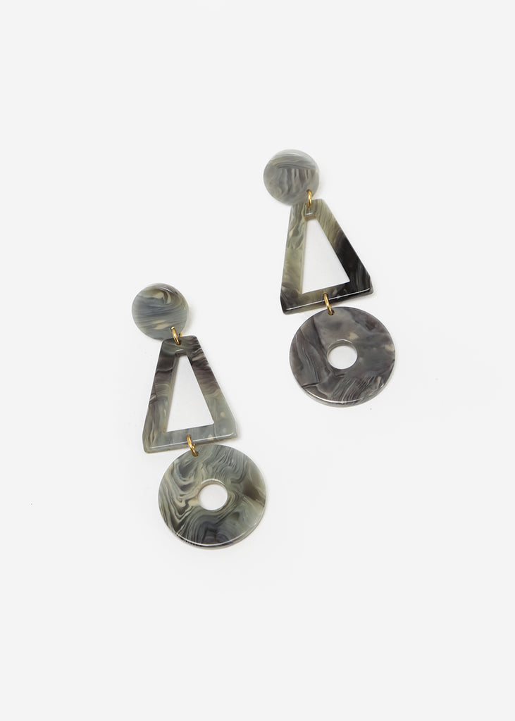 Après Ski Lis Marble Grey Earrings — Shop sustainable fashion and slow fashion at New Classics Studios
