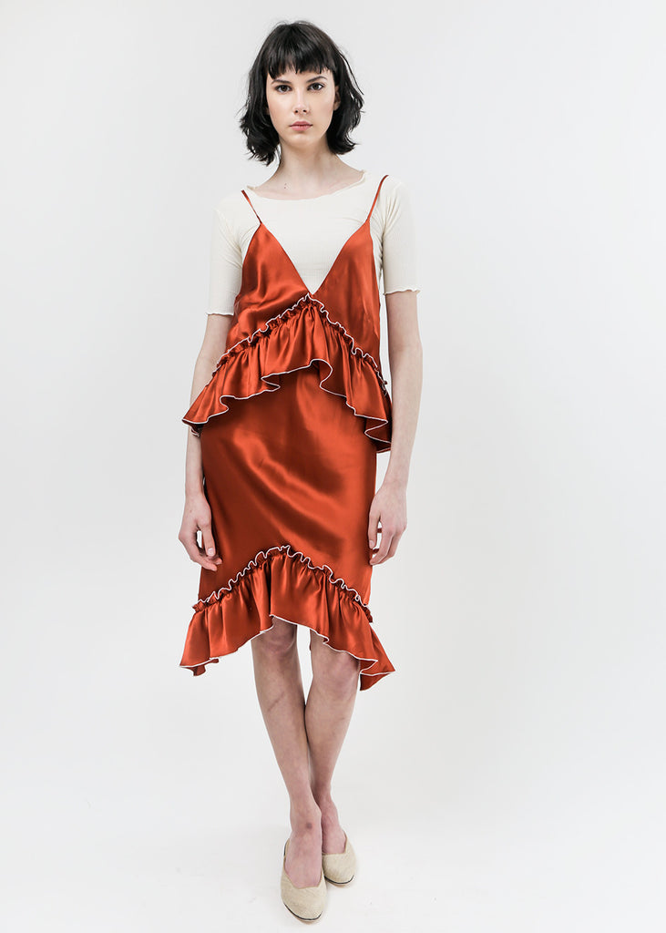 Arcana NYC Paprika Lilith Convertible Slip Dress — New Classics Studios