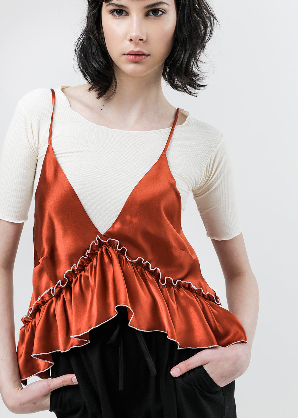Arcana NYC Paprika Lilith Convertible Slip Dress — Shop sustainable fashion and slow fashion at New Classics Studios