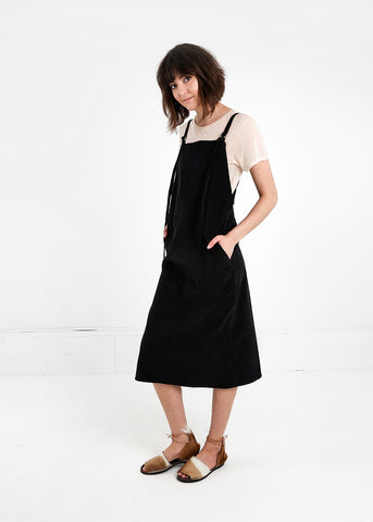 Fine Corduroy Overall Dress