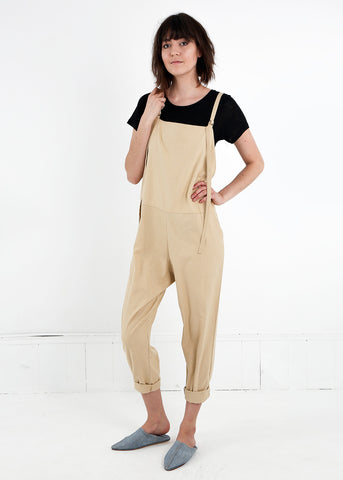 Tan Long Strap Overalls