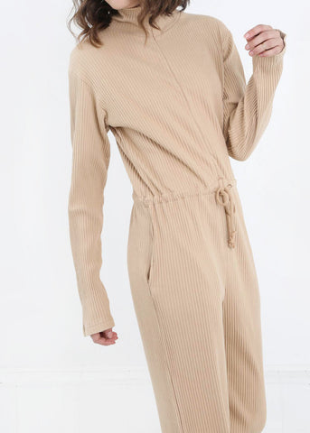 Nude Doha Ribbed Jumpsuit