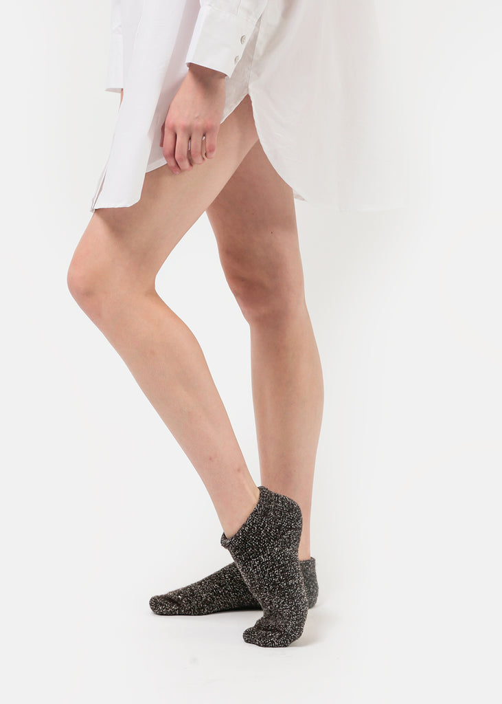 Baserange Brown Buckle Ankle Socks — Shop sustainable fashion and slow fashion at New Classics Studios