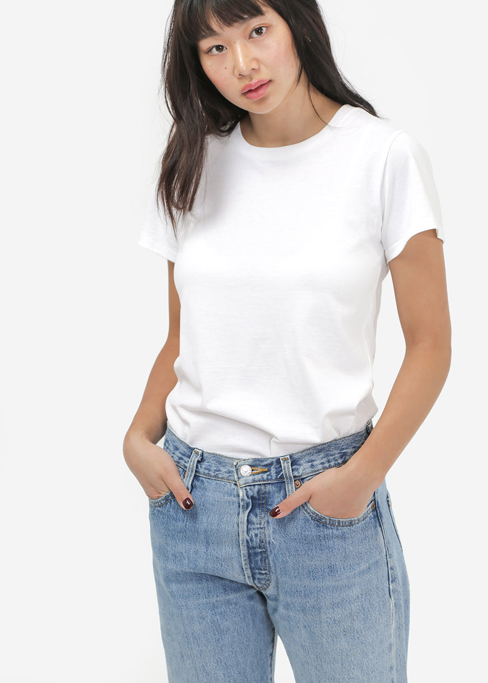 Baserange Off-White Cotton Tee Shirt — Shop sustainable fashion and slow fashion at New Classics Studios