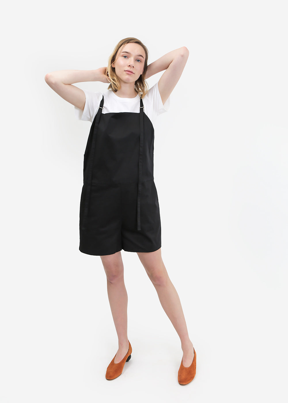 Canvas Short Strap Overalls