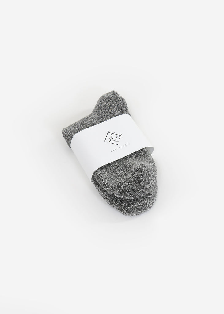 Baserange Grey Melange Buckle Ankle Socks — Shop sustainable fashion and slow fashion at New Classics Studios