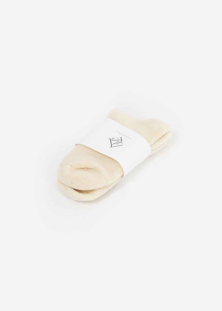 Baserange Off White Buckle Ankle Socks — Shop sustainable fashion and slow fashion at New Classics Studios