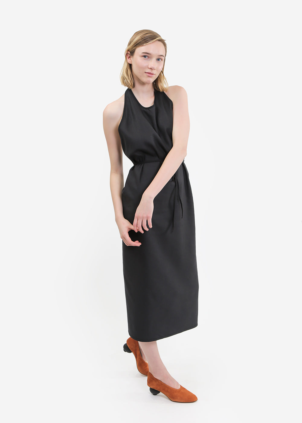 Baserange Raw Silk Apron Dress — New Classics Studios