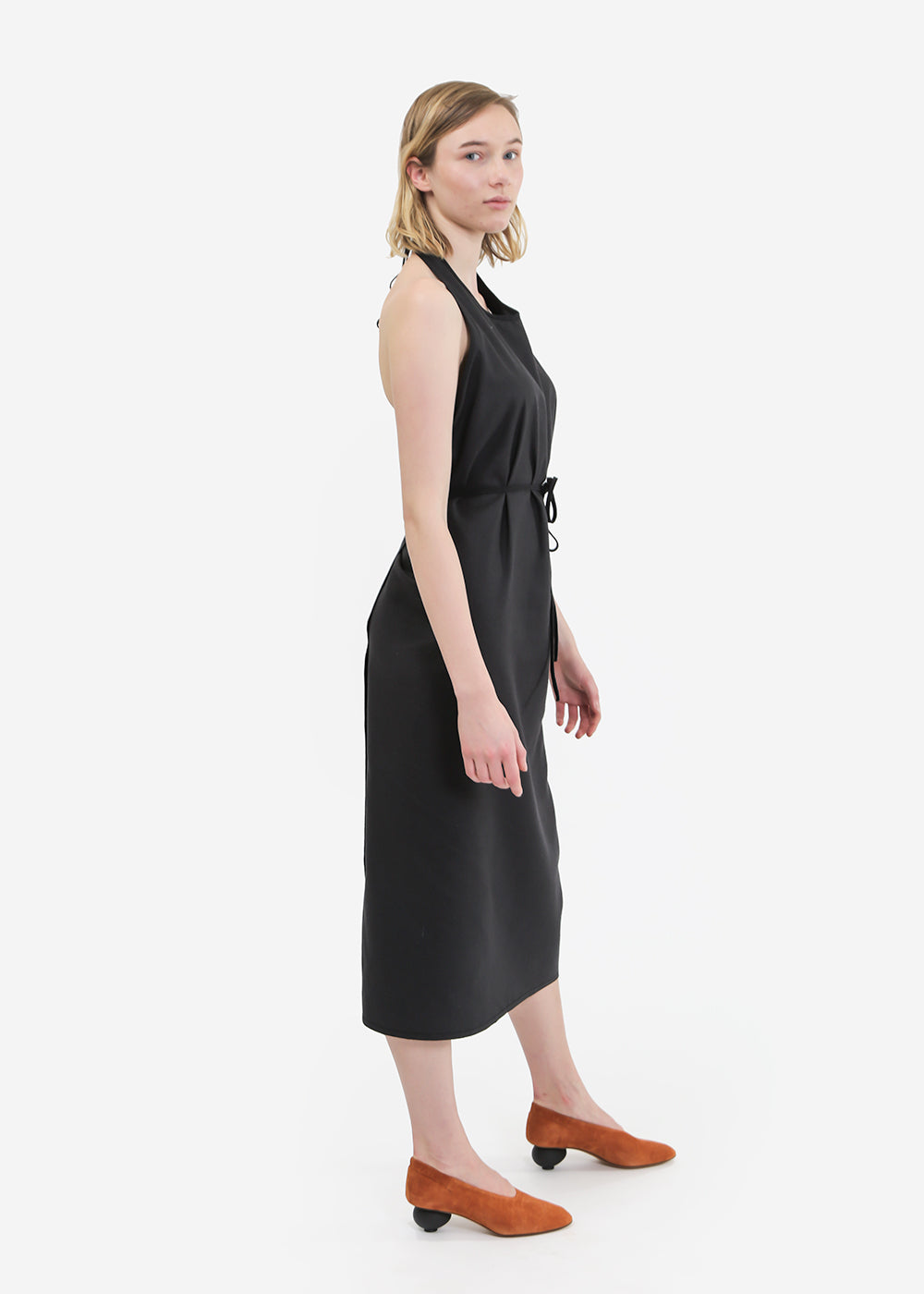 Baserange Raw Silk Apron Dress — Shop sustainable fashion and slow fashion at New Classics Studios