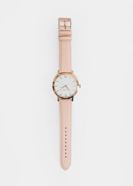 Berg + Betts Blush and Rose Gold Round Watch — New Classics Studios