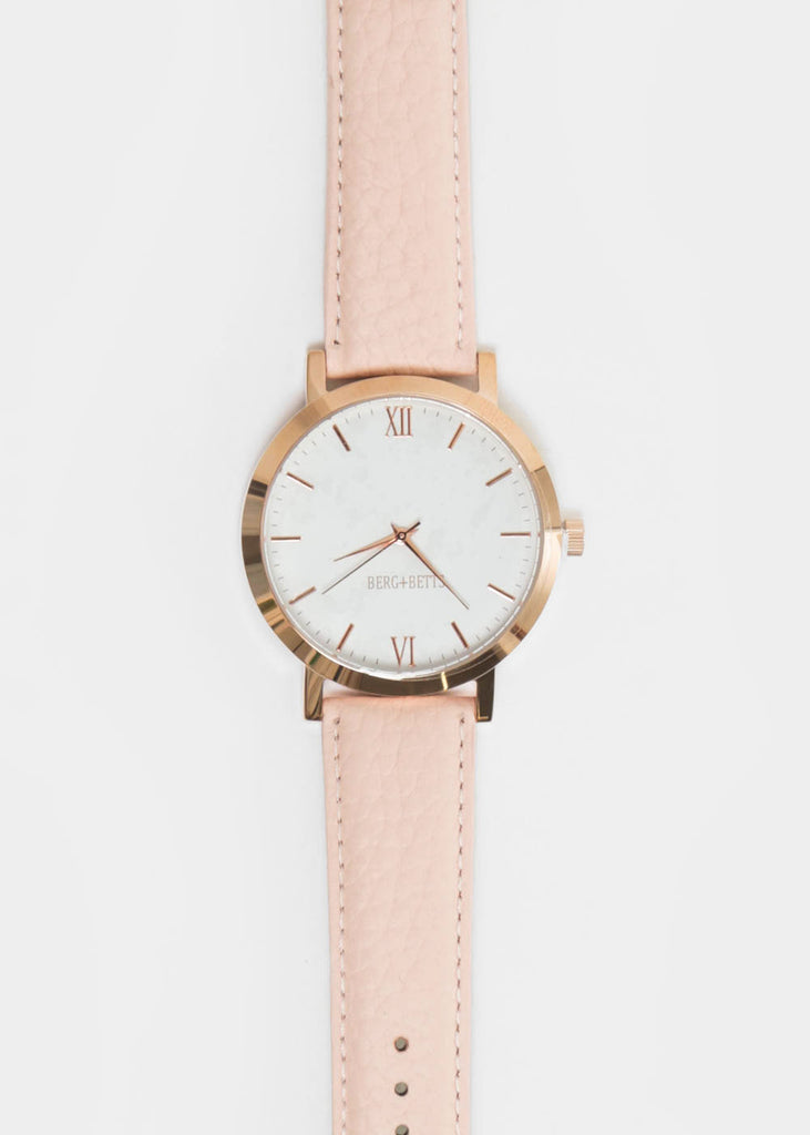 Berg + Betts Blush and Rose Gold Round Watch — Shop sustainable fashion and slow fashion at New Classics Studios