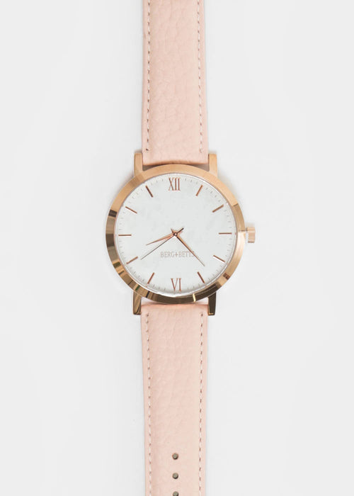 Blush and Rose Gold Round Watch