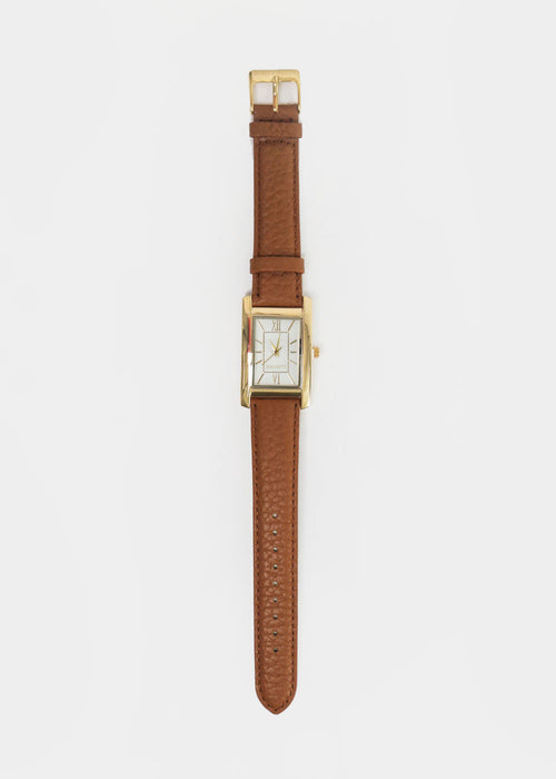Berg + Betts Gold and Camel Classic Watch — New Classics Studios