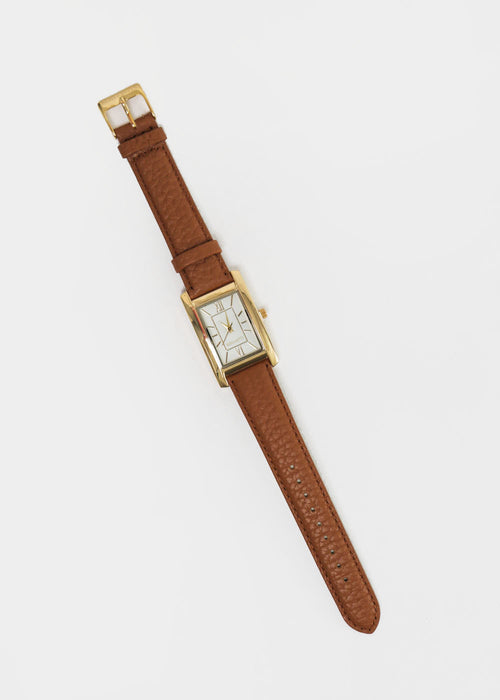 Gold and Camel Classic Watch