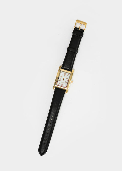 Berg + Betts Gold and Black Classic Watch — New Classics Studios