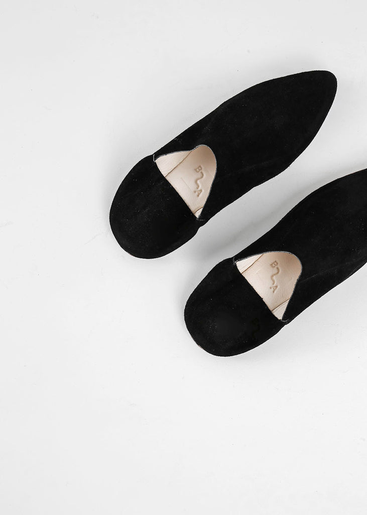 Bronze Age Black Massa Suede Babouche — Shop sustainable fashion and slow fashion at New Classics Studios