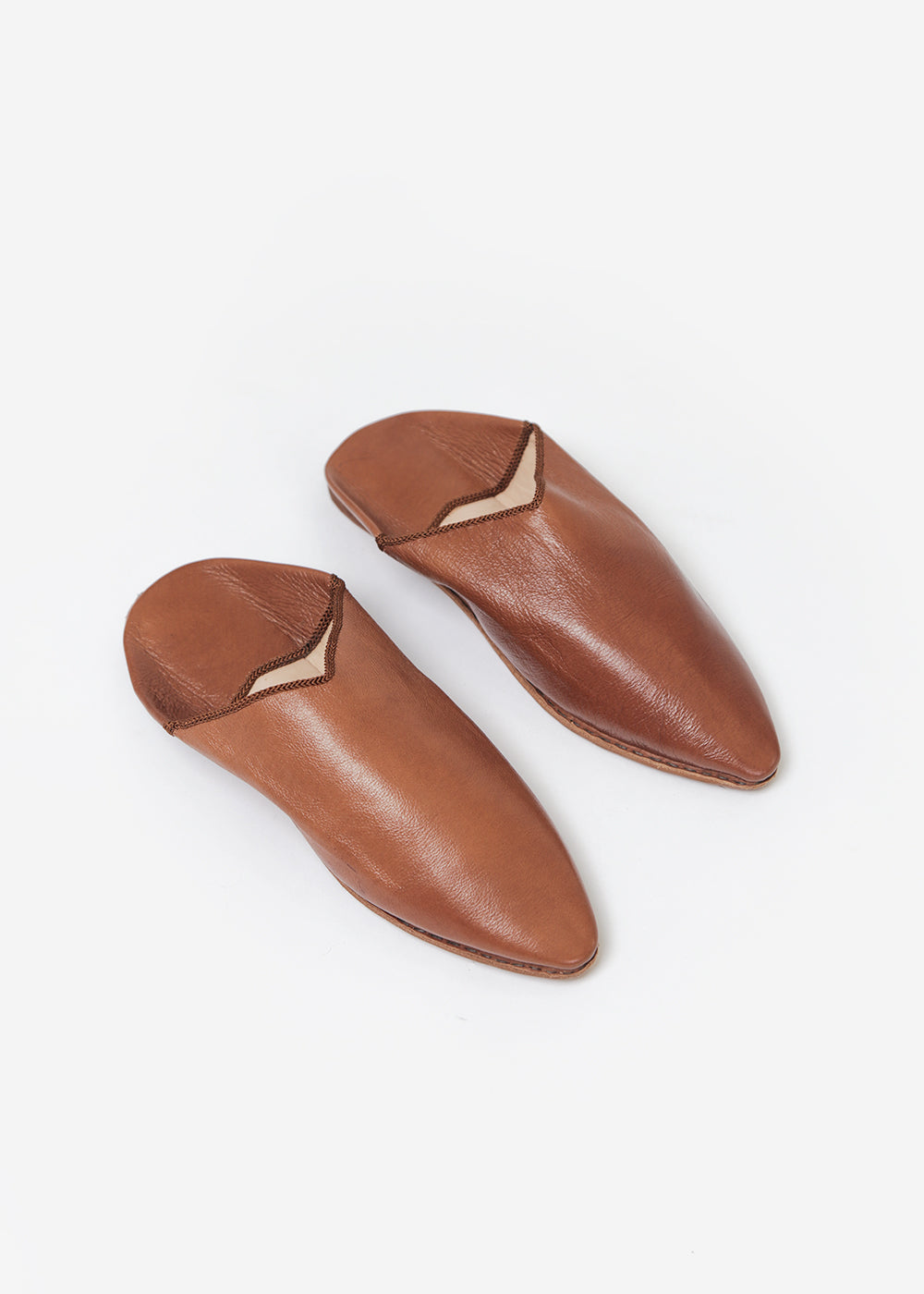Bronze Age Camel Massa Leather Babouche — Shop sustainable fashion and slow fashion at New Classics Studios