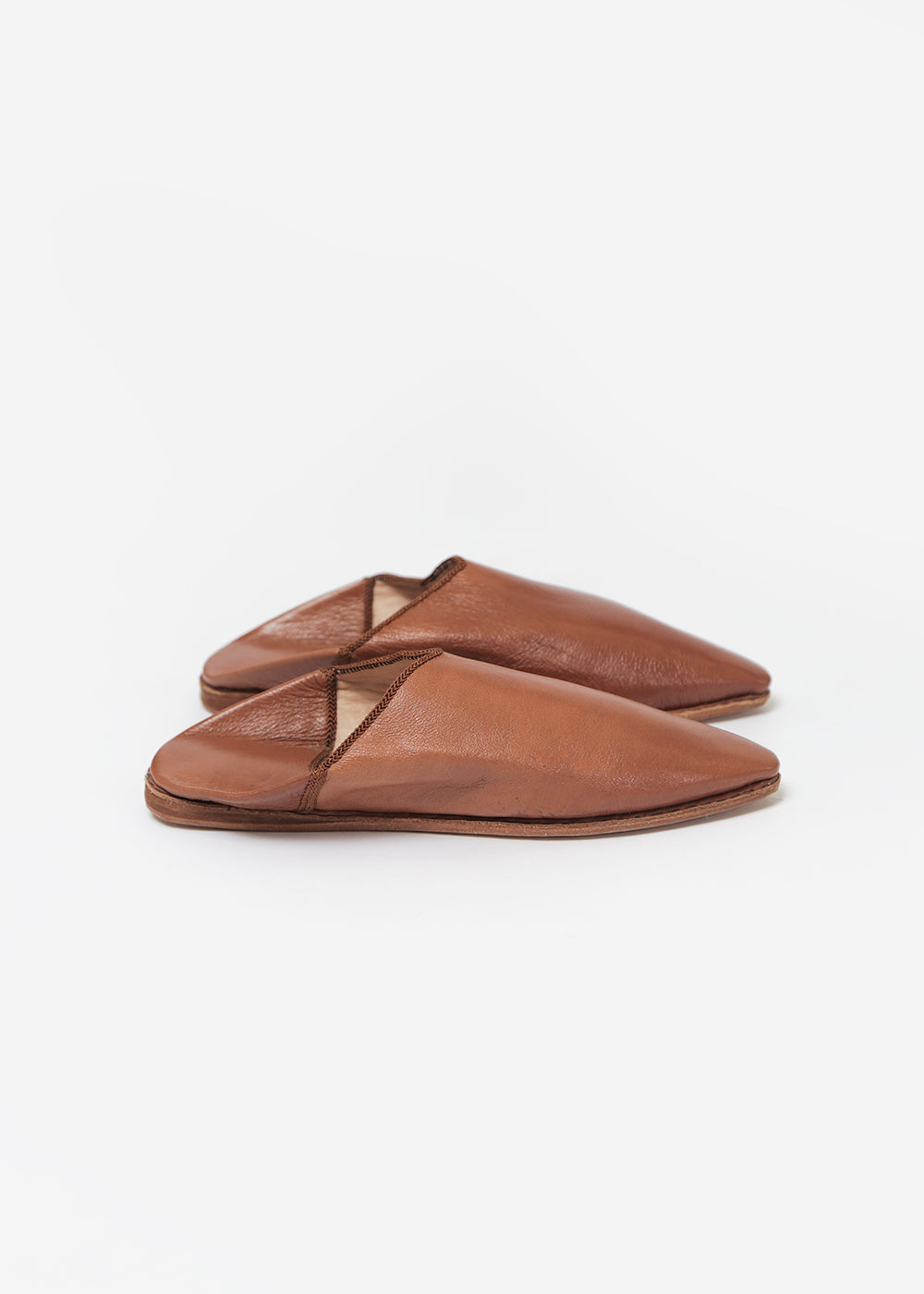 Bronze Age Camel Massa Leather Babouche — New Classics Studios