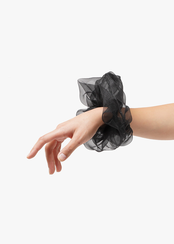 Black Organza XL Scrunchie