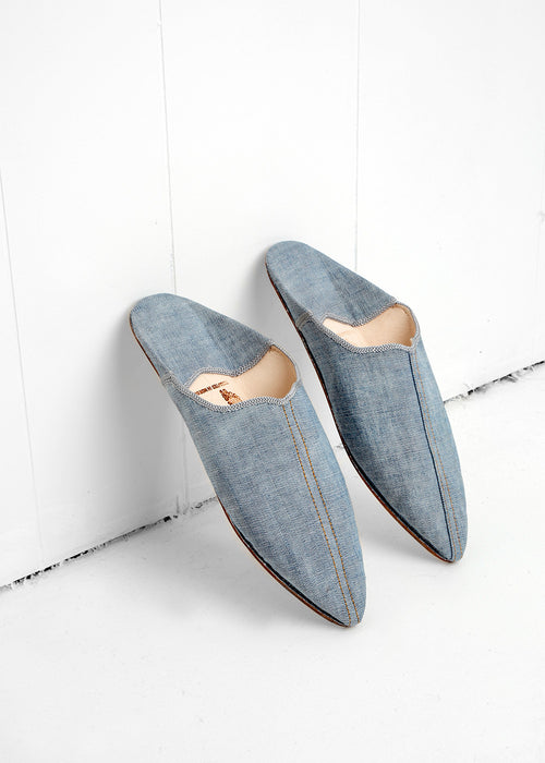 Brother Vellies Denim Babouche — New Classics Studios