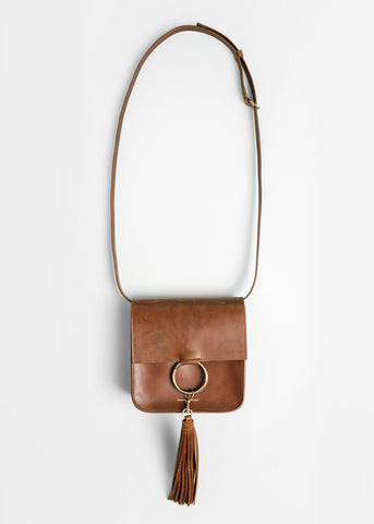 Whiskey Leather Palma Bag