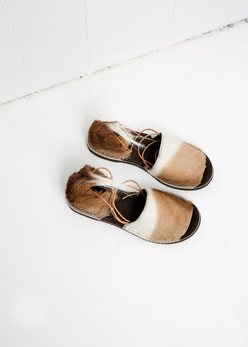 Brother Vellies Natural Springbok Congo Sandal — New Classics Studios