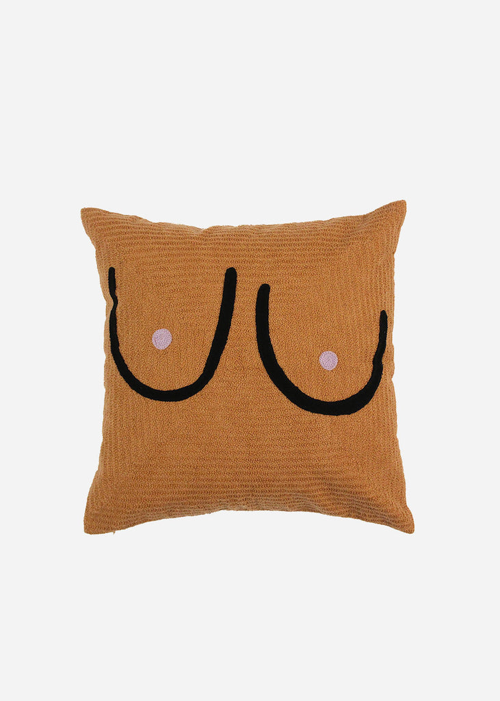 Cold Picnic Brown Boob Pillow Cover — Shop sustainable fashion and slow fashion at New Classics Studios