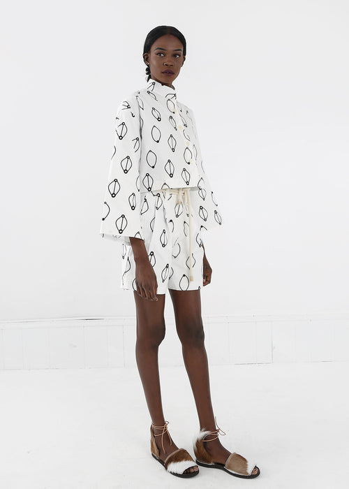 Delfina Balda Printed Armonia Button Up — New Classics Studios