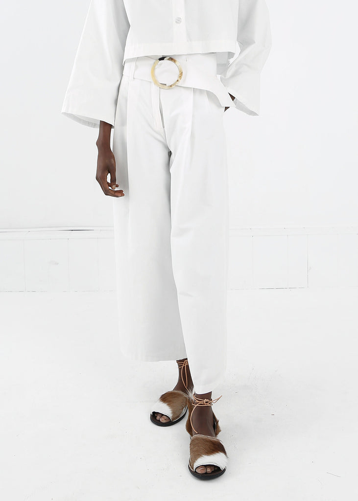 Delfina Balda White Amaz Pant — Shop sustainable fashion and slow fashion at New Classics Studios
