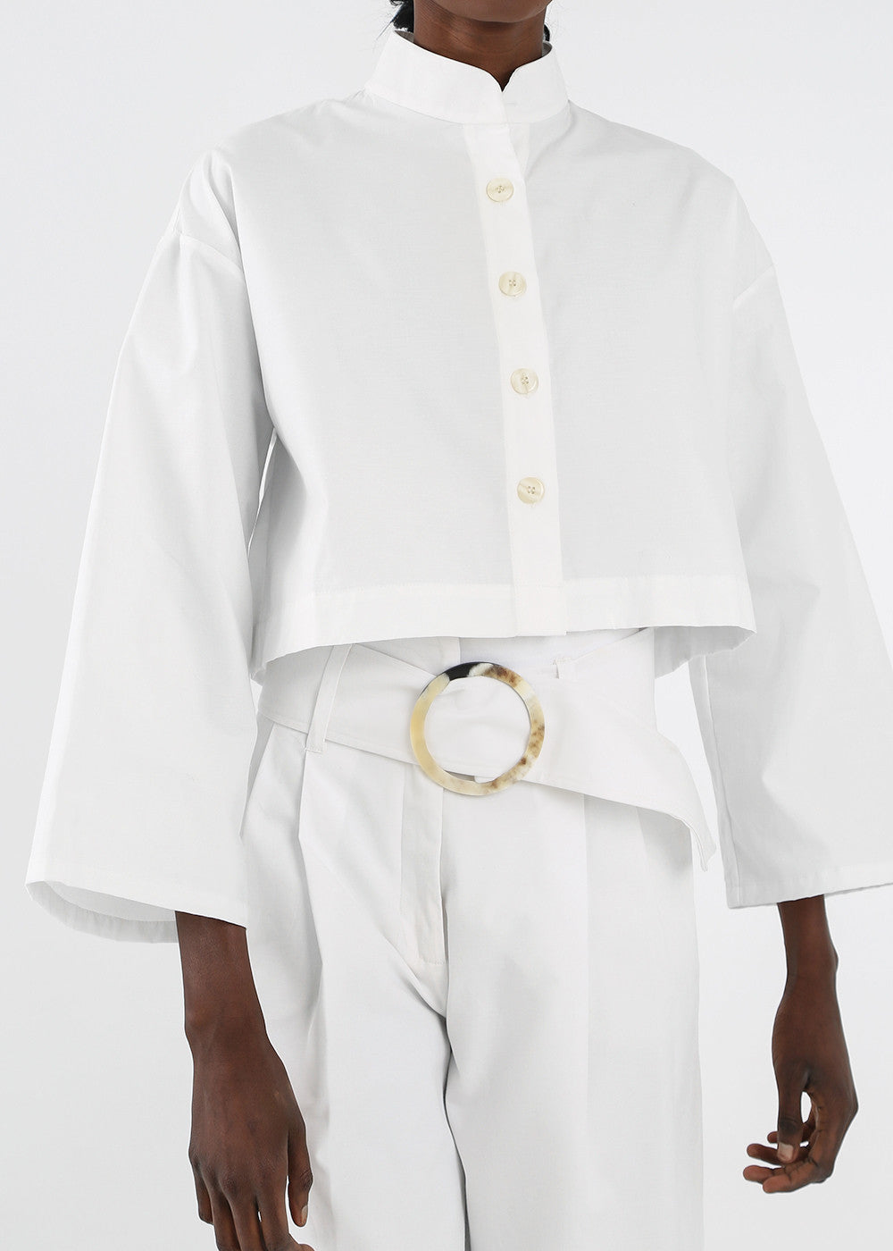 Delfina Balda White Armonia Button Up - New Classics Studios