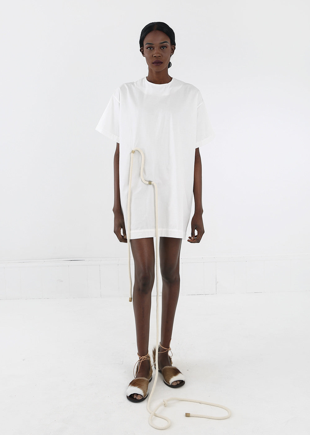 Delfina Balda White Paradiso Tunic Tee — Shop sustainable fashion and slow fashion at New Classics Studios