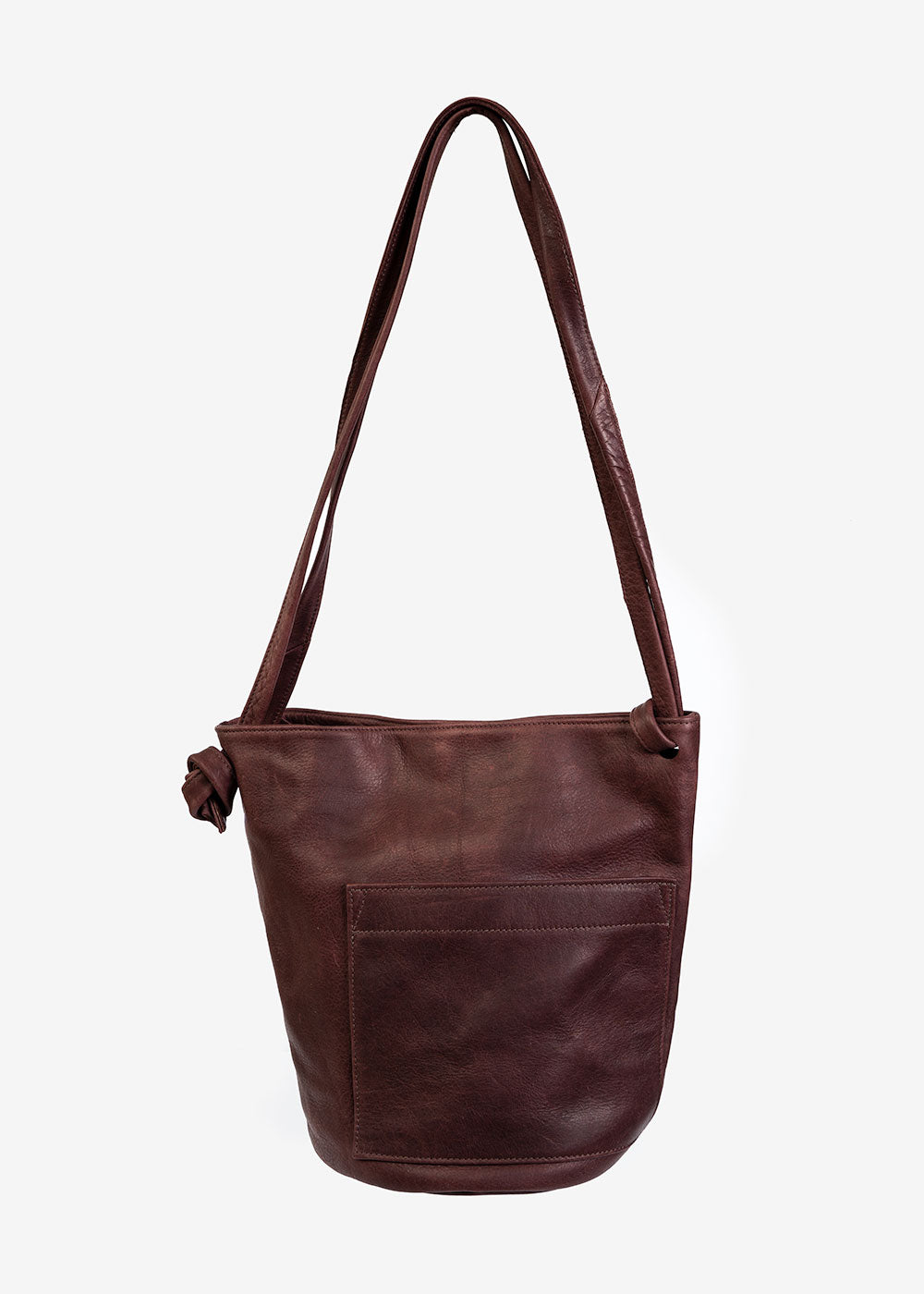 Erin Templeton Wine Crossbody Bucket Bag — Shop sustainable fashion and slow fashion at New Classics Studios
