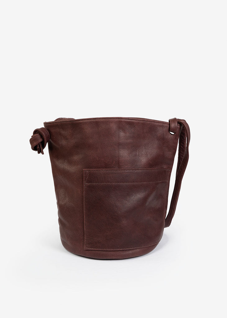 Wine Crossbody Bucket Bag
